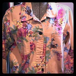 jean jacket, patterned